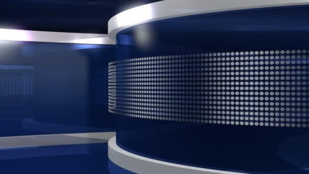 Blue Virtual News Studio
