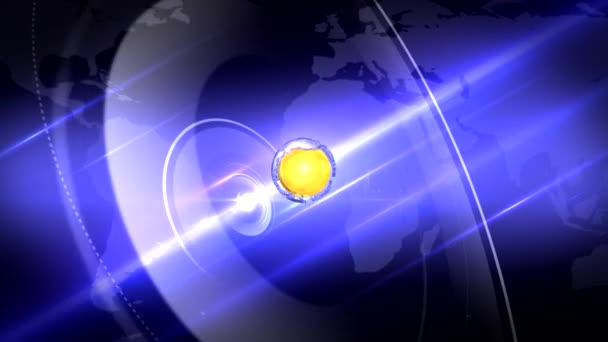 Blue News Intro with a rotating Globe