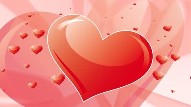 Valentines Hearts Red Background