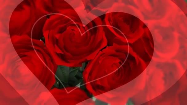 valentinky den růže pozadí