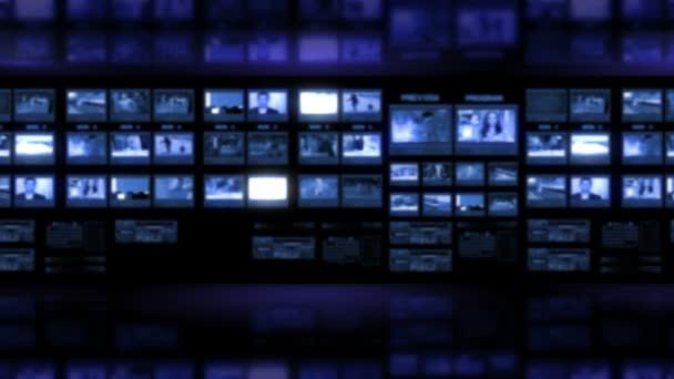 virtuální studio tv monitoru stěna