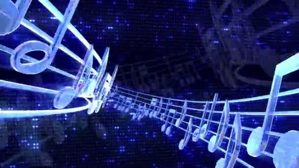 volo di note musicali