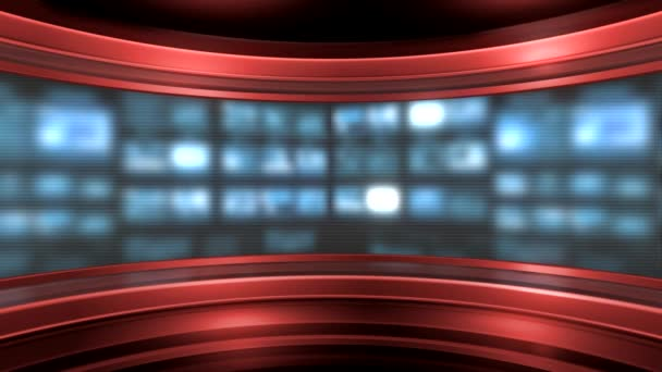 Red virtual studio background