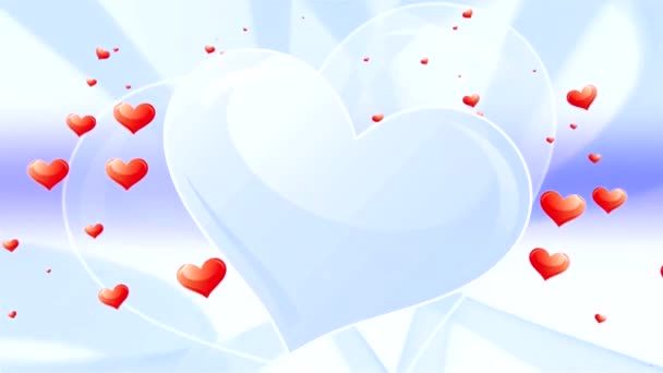 valentinky srdce modré pozadí