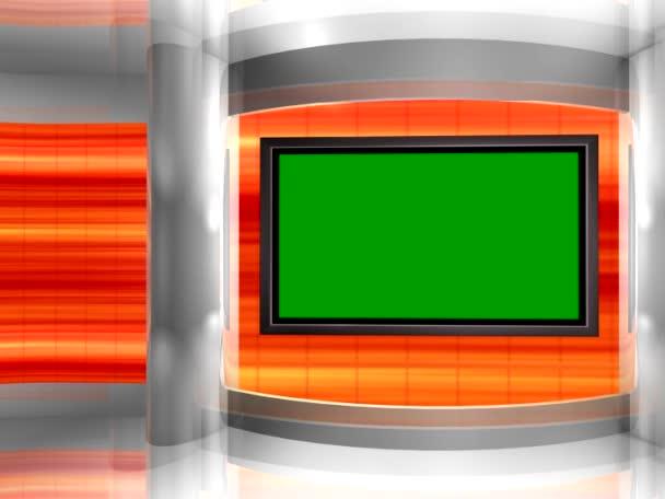 a virtuális studio háttér hurok a monitor falra