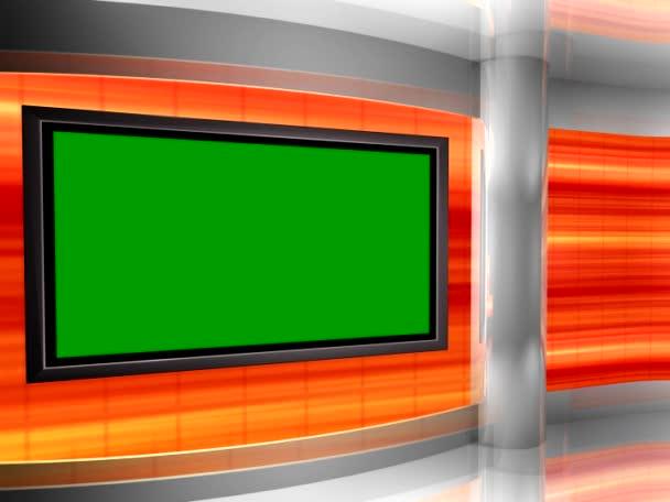 virtuální studio pozadí smyčky s monitorem zdi