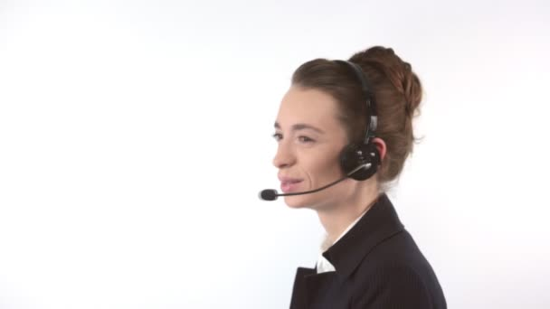 Support woman with headset