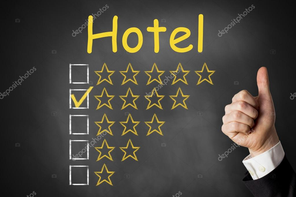 Thumbs up Hotel four star rating
