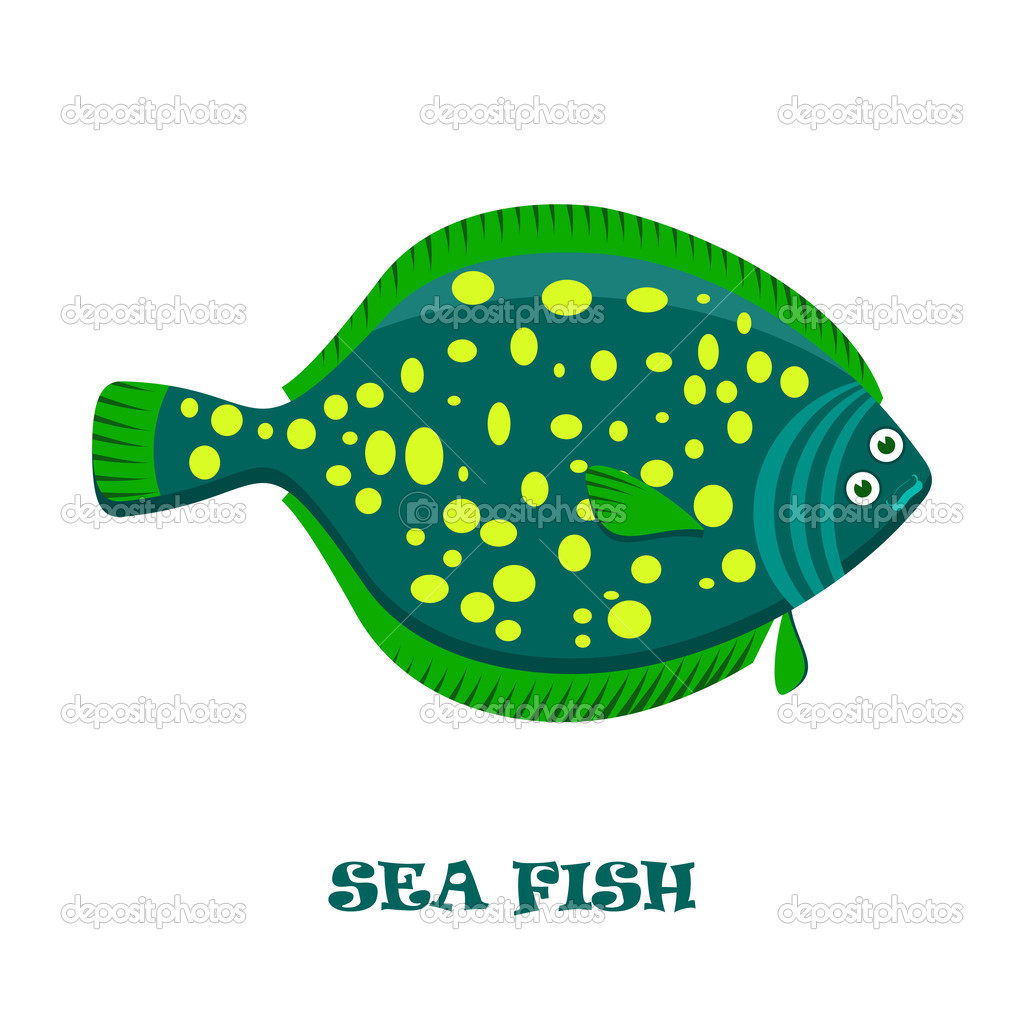 Sea Fish color vector illustration. — Stock Vector © Finevector ...