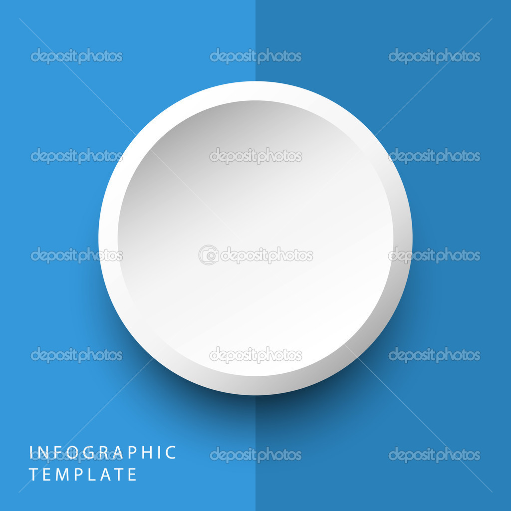 Abstract 3d Circle Info Graphics Template For Work Flow