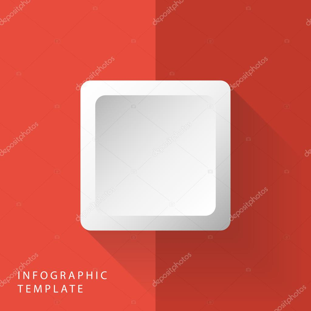 abstract 3d square info graphic template for work flow layout