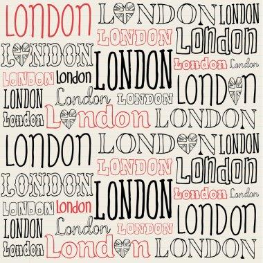 Handwritten London word background