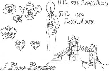 London icons doodle set