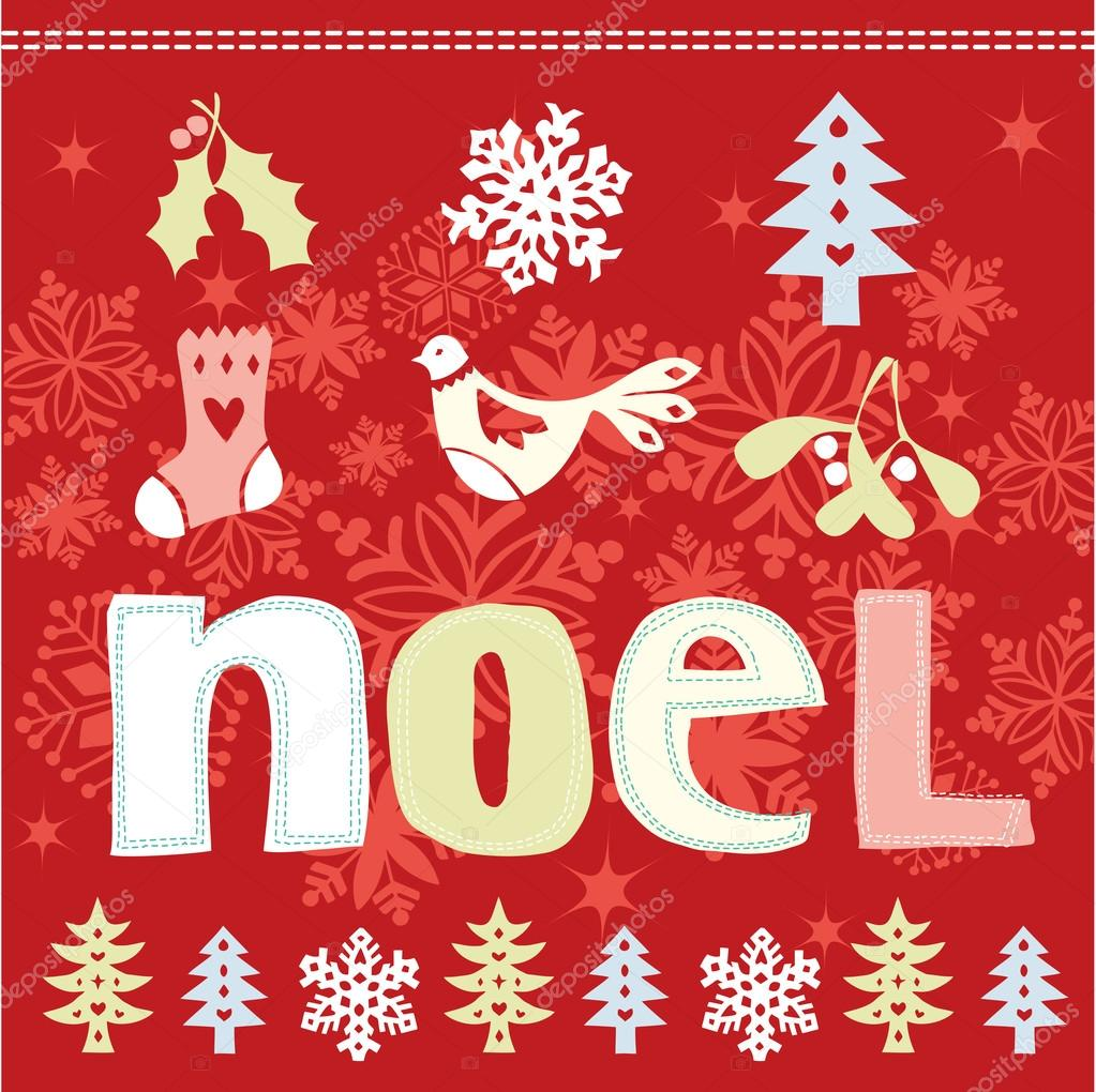 Christmas Noel card — Stock Vector © OMW #47901503