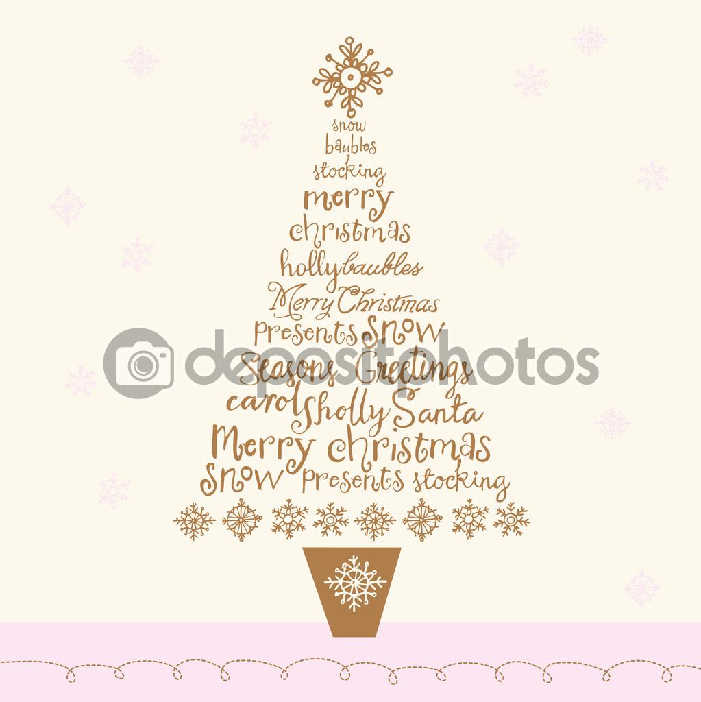 Weihnachten Wörter in Baum — Stockvektor © OMW #47902009