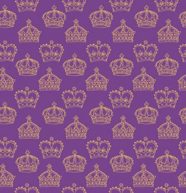 Purple crowns pattern