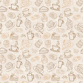 Fotografie Coffee and cakes  pattern