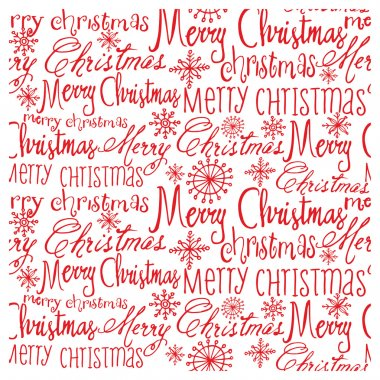 Christmas words pattern