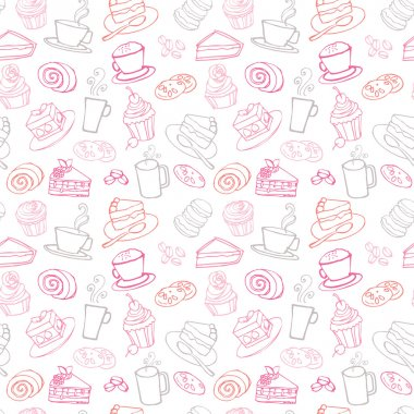 Tea and cakes pattern