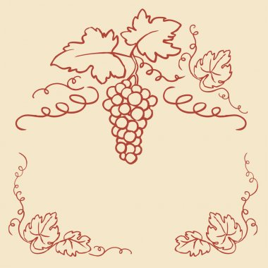 Grapes & vine frame