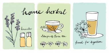 Herbal teas and essential oils
