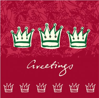 Christmas crowns greeting card