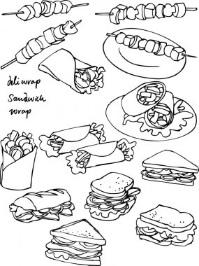 Sandwiches icons