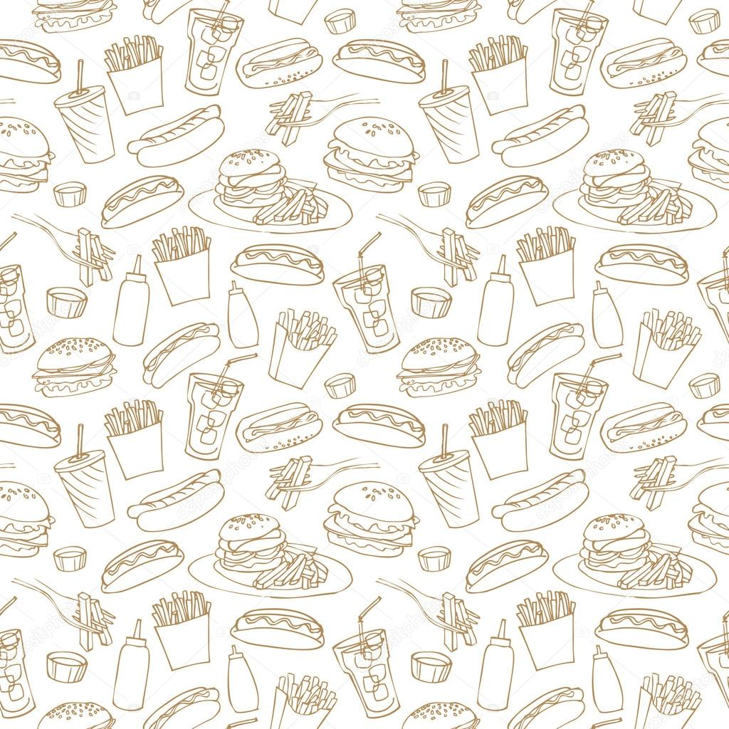 fast food pattern � stock vector 169 omw 48690607