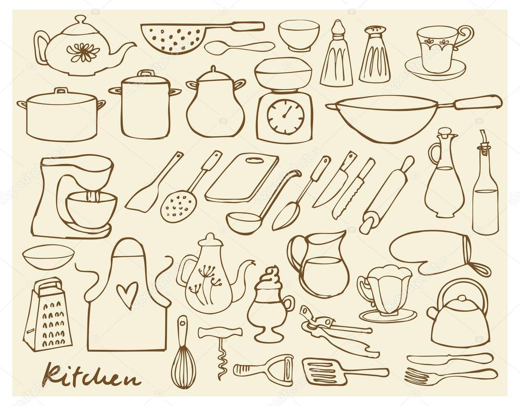 Elementos de cocina vector de stock omw 48696889 for Elementos de cocina