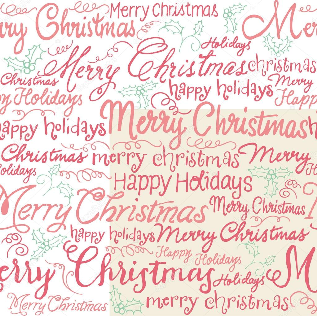 Weihnachten Wörter und holly — Stockvektor © OMW #48698433