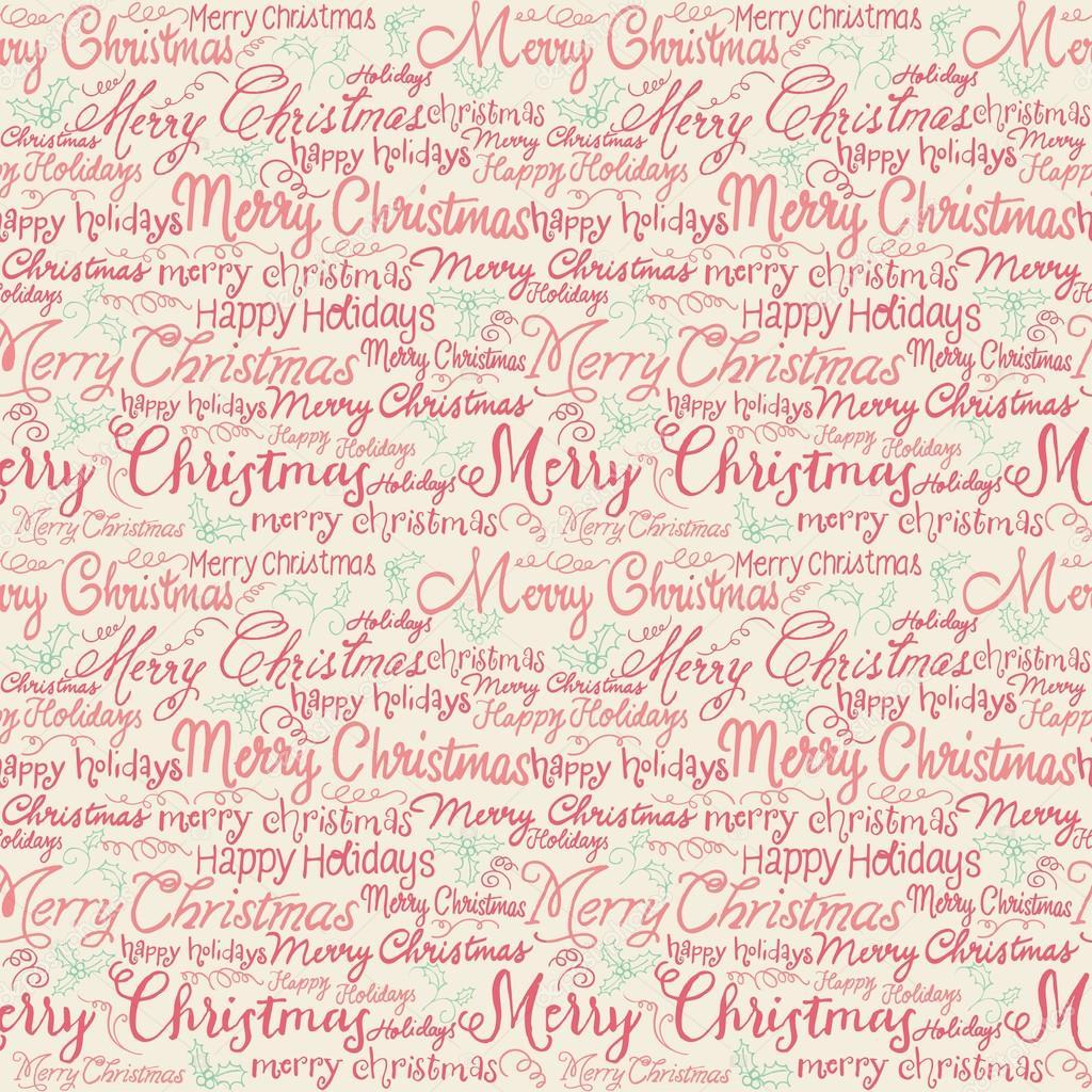 Weihnachten Wörter und holly — Stockvektor © OMW #48698449