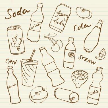 Soft drinks doodle