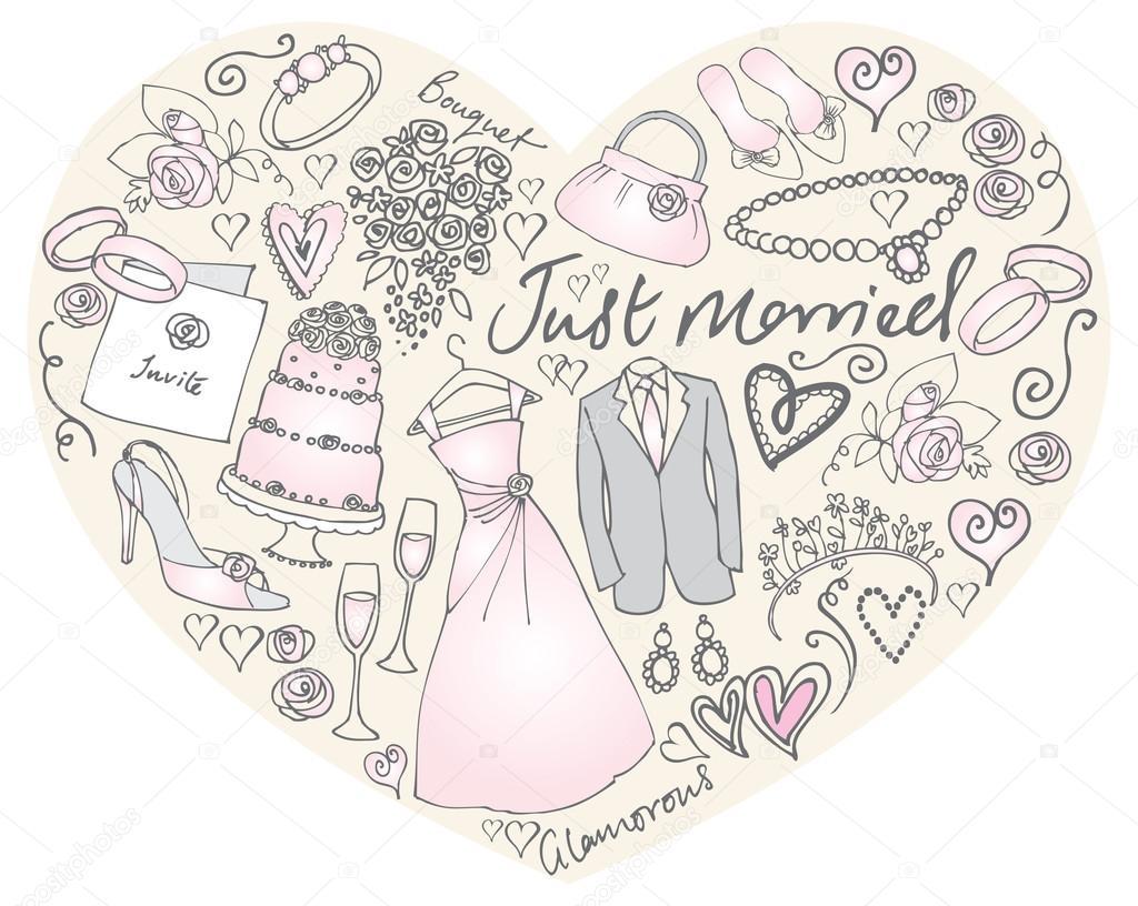 Hochzeit Symbole N Herz Stockvektor C Omw 48731399