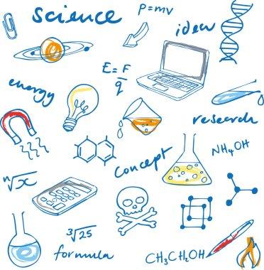 Science doodles set