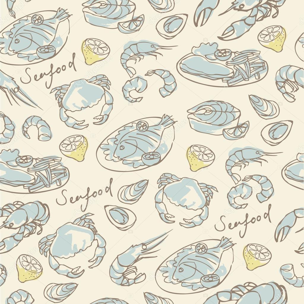 Seafood  pattern