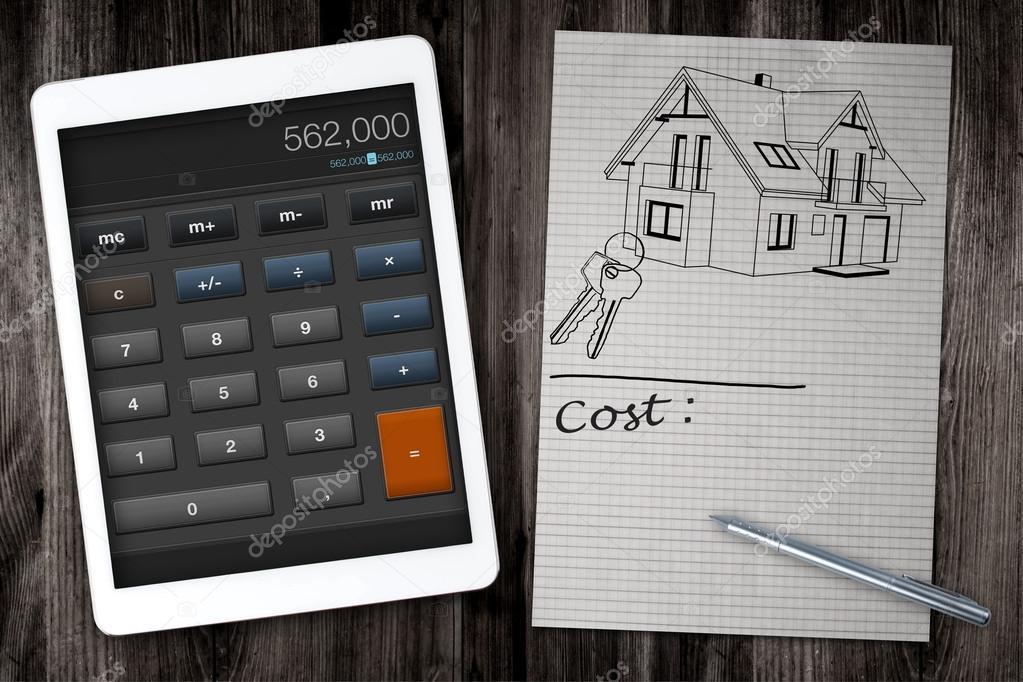 Hausbau Kosten Rechner Stockfoto C Rzoze 49042731