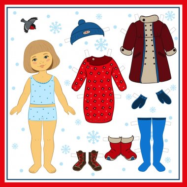Winter paper doll