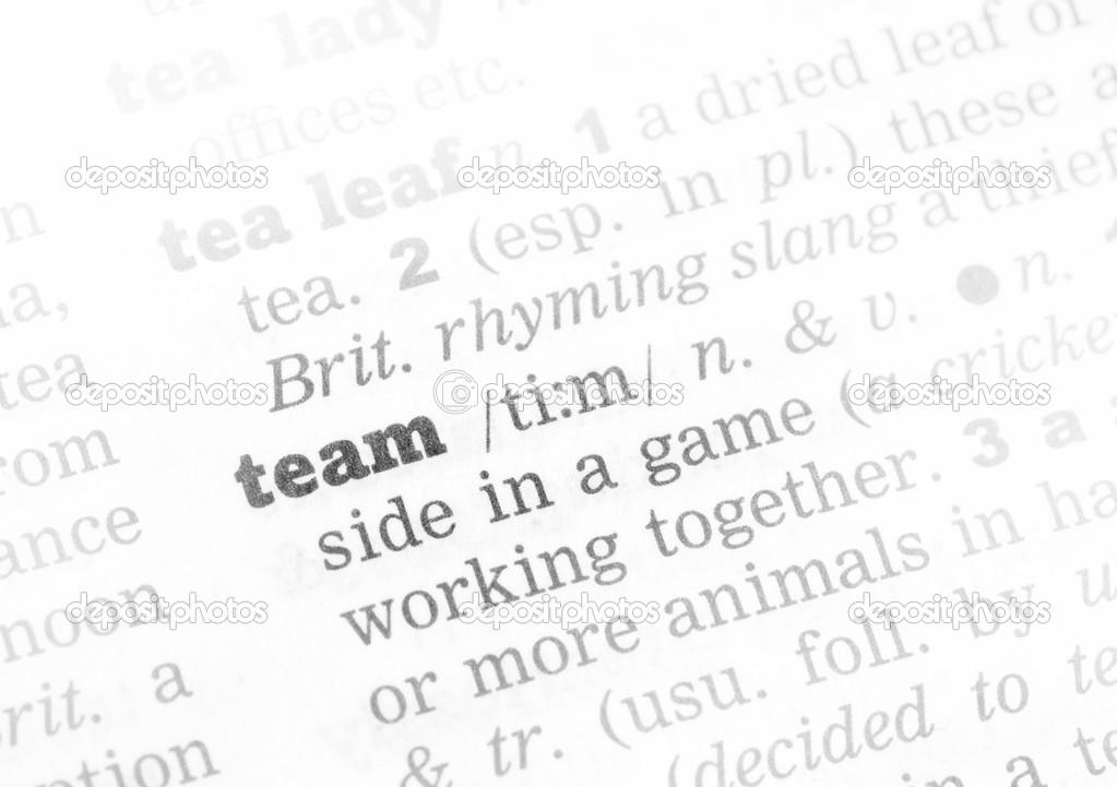 Team Definition Of Team At Dictionary Com >> Team Dictionary Definition Stock Photo C Chris2766 50181939