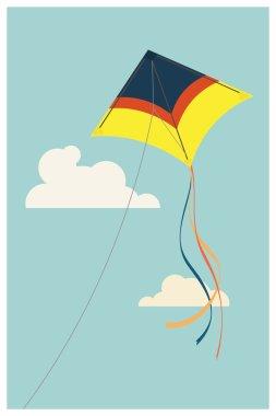 Delta wing kite in the sky