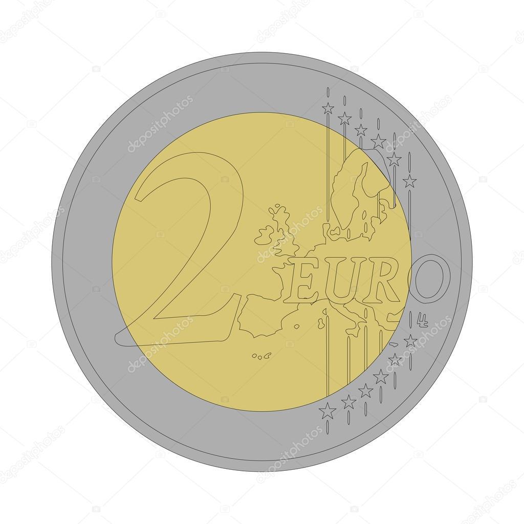 Moneta da 2 euro vettoriali stock agongallud 48014657 - Stock piastrelle 2 euro ...