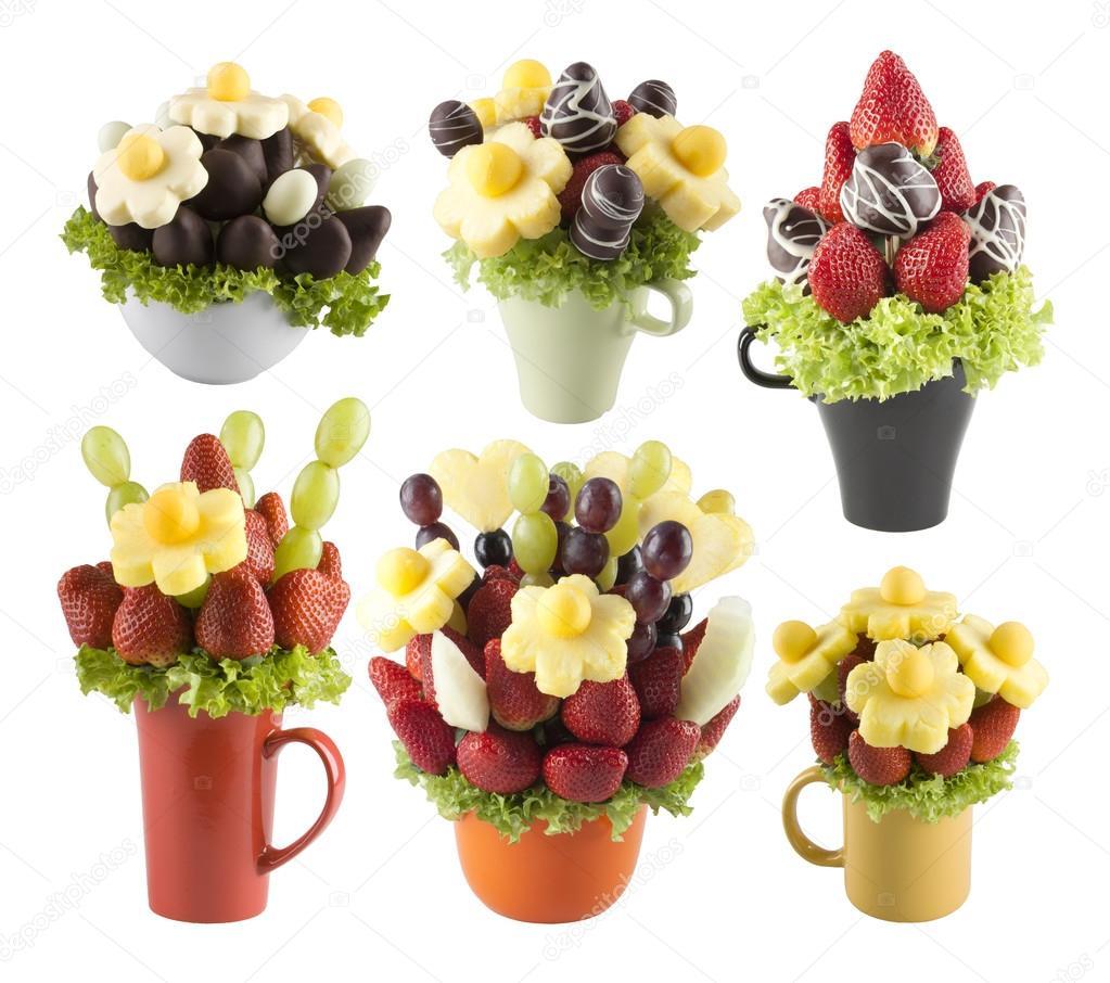 Fruits bouquets of flowers — Stock Photo © Entrieri #48637731