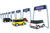 Fotografie Electronic toll collection system of Japanese-style