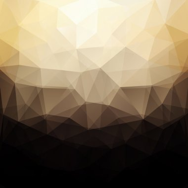Beige and black color abstract vector triangle geometric design background, business wallpaper clip art vector