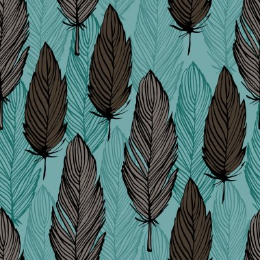 Bird feather pattern
