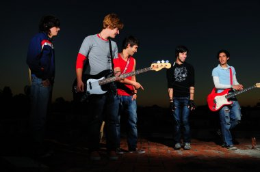 Young musican band