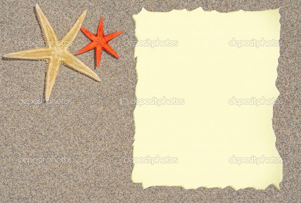 toile de mer et coquillages avec papier vierge pour un menu d 39 une liste ou d 39 un texte. Black Bedroom Furniture Sets. Home Design Ideas