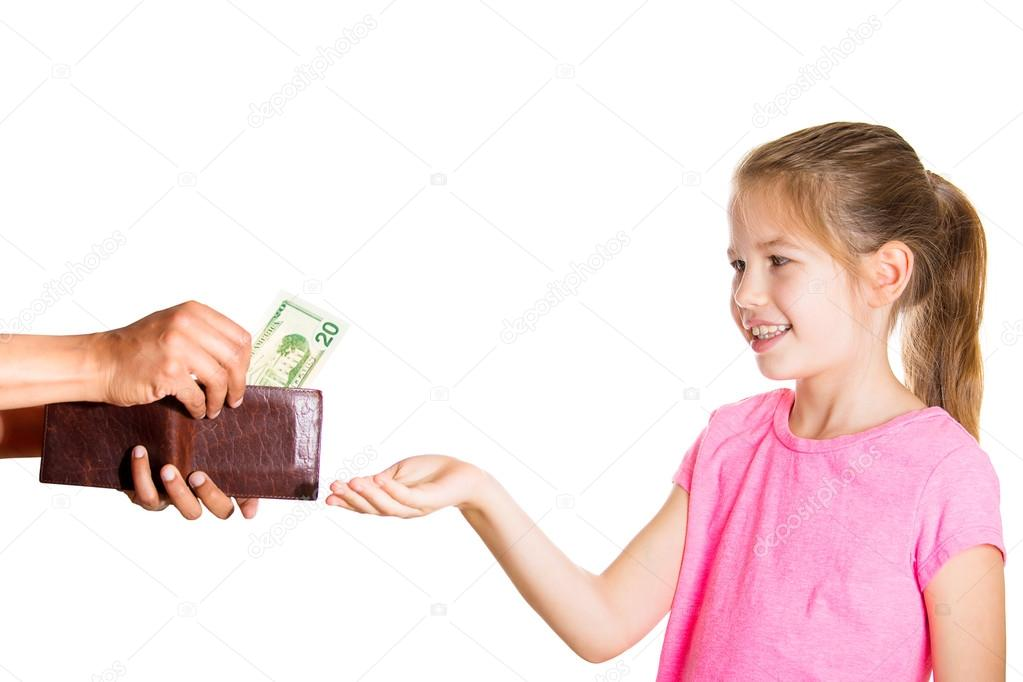 Kid asking for money