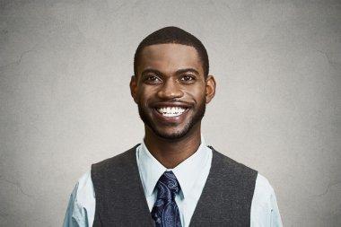 Portrait happy, smiling corporate executive