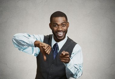 Company man excited about someones failure
