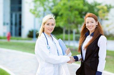 Doctor patient relationship. Handshake